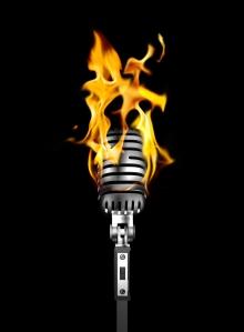 microphone burn